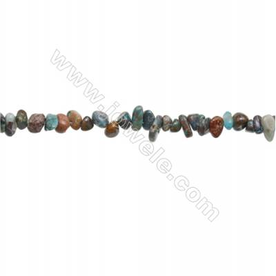 """Natural Chrysocolla Beads Strand  Chips  Size 4~8x5~13mm  hole 0.8mm  31~32"""" x 1strand"""