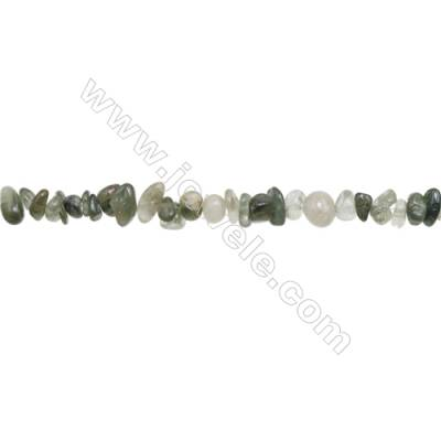 """Natural Rutilated Quartz Beads Strand  Chips  Size 4~9x5~11mm  hole 0.8mm  31~32"""" x 1strand"""