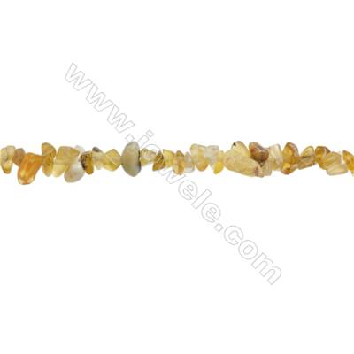"Yellow Opal Beads Strand  Chips  Size 4~7x5~11mm  hole 0.8mm  31~32"" x 1strand"