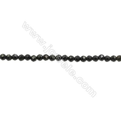 Natural Spinel Beads Strand  Faceted Round  Diameter 2mm  hole 0.3mm  about 219 beads/strand  15~16""