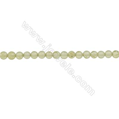 Natural Peridot Beads Strand  Round  Diameter 3mm  hole 0.6mm  about 126 beads/strand  15~16""