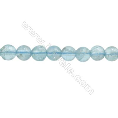 Natural Apatite Beads Strand  Round  Diameter 5mm  hole 0.8mm  about 82 beads/strand 15~16""