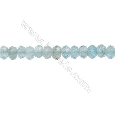 Natural Apatite Beads Strand  Faceted Abacus  Size 3x4mm  hole 0.8mm  about 149 beads/strand 15~16""