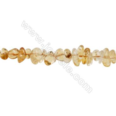 """Natural Citrine Beads Strand  Chips  Size 6~8x6~13mm  hole 1mm  15~16"""" x 1strand"""