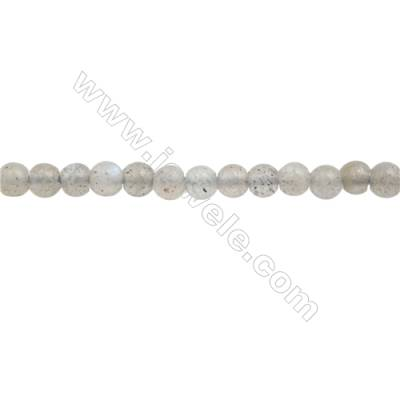 Natural Labradorite Beads Strand  Round  Diameter 3mm  hole 0.6mm  about 140 beads/strand  15~16""