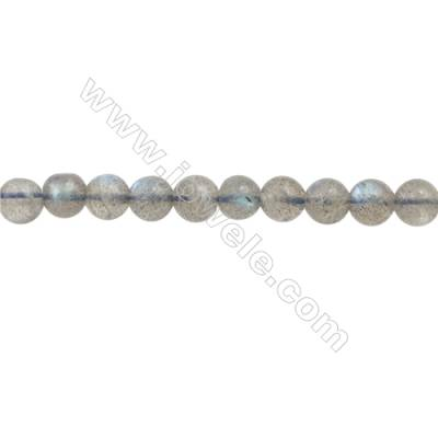 Natural Labradorite Beads Strand  Round  Diameter 5mm  hole 0.6mm  about 93 beads/strand  15~16""