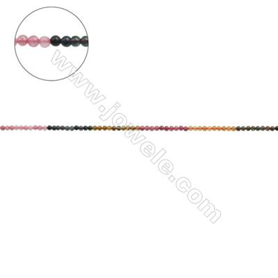Natural Alternated Tourmaline Beads Strand  Round  Diameter 3mm  hole 0.6mm  about 131 beads/strand  15~16""
