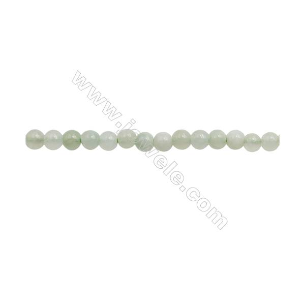 Natural Chinese Jade Beads Strand  Round Diameter 4mm  hole 0.8mm  about 113 beads/strand  15~16""