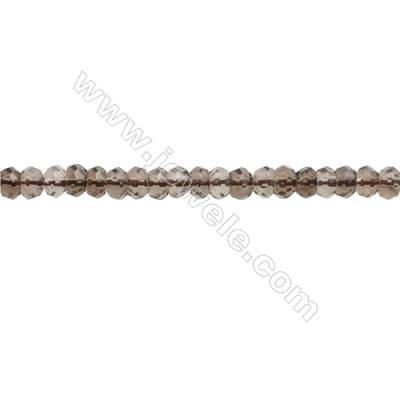 Natural Smoky Quartz Beads Strand  Faceted Abacus  Size 3x4mm  hole 0.8mm  about 162 beads/strand 15~16""