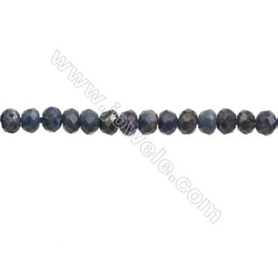 Natural Sapphire Beads Strand  Faceted Abacus  Size 2x3mm  hole 0.6mm  about 176 beads/strand  15~16""