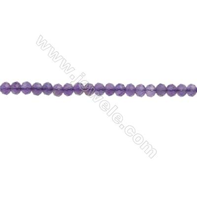 Natural Amethyst Beads Strand  Faceted Abacus  Size 2x3mm  hole 0.6mm  about 148 beads/strand 15~16""