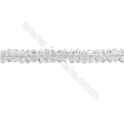 Natural Rock Quartz Beads Strand  Faceted Abacus  Size 2x5mm  hole 0.8mm  about 166 beads/strand  15~16""
