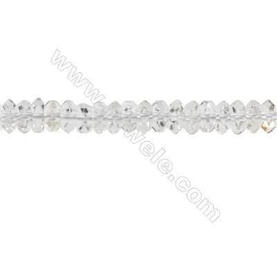 Natural Rock Quartz Beads Strand  Faceted Abacus  Size 3x6mm  hole 0.8mm  about 139 beads/strand  15~16""