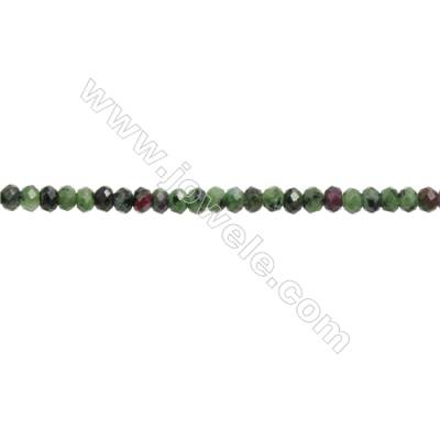 Natural Ruby Zoisite Beads Strand  Faceted Abacus  Size 3x5mm  hole 0.8mm  about 113 beads/strand  15~16""