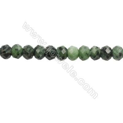 Natural Ruby Zoisite Beads Strand  Faceted Abacus  Size 7x10mm  hole 1mm  about 57 beads/strand  15~16""