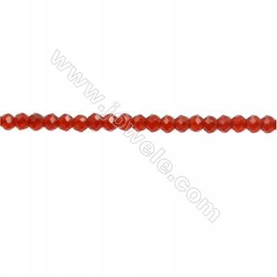 Natural Red Agate Beads Strand  Faceted Abacus  Size 2x3mm  hole 0.6mm  about 150 beads/strand  15~16""