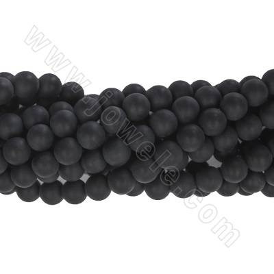 Natural Black Agate Frosted...