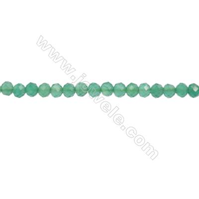 Natural Green Agate Beads Strand  Faceted Abacus  Size 3x4mm  hole 0.8mm  about 120 beads/strand  15~16""