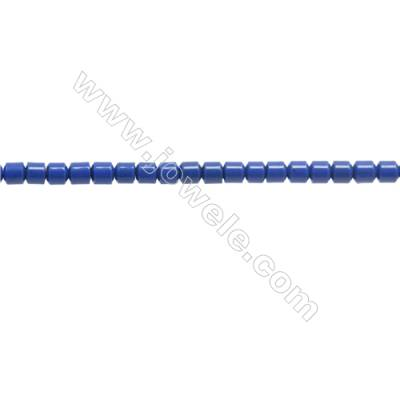 Handmade Blue Printed Porcelain Beads Strands  Column  Size 2.5x2.5mm  Hole 0.3mm  about 162 beads/strand 15~16""