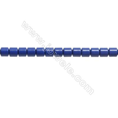 Handmade Blue Printed Porcelain Beads Strands  Column  Size 5x5mm  Hole 0.6mm  about 83 beads/strand 15~16""