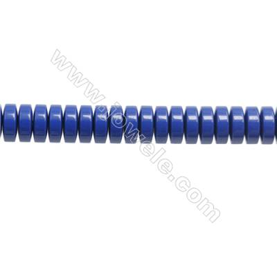 Handmade Blue Printed Porcelain Beads Strands  Abacus  Size 3x8mm  Hole 0.8mm  about 127 beads/strand 15~16""