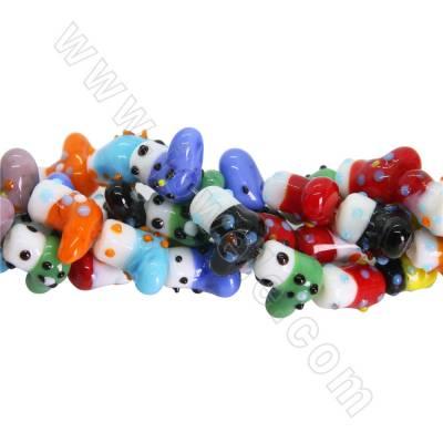 Lampwork bead strands...