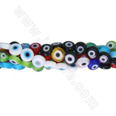 Lampwork beads strands eyes...