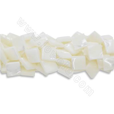 Natural white shell beads...