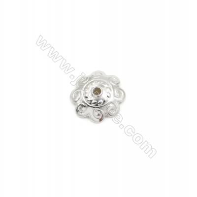 304 Stainless Steel Engraved Beads Cap  Size 11x3mm  Hole 1.5mm  300pcs/pack
