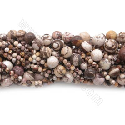 Natural Zebra Stone Beads...