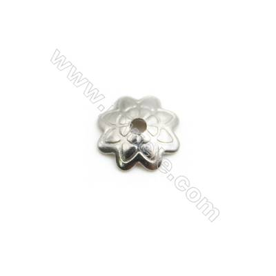 304 Stainless Steel Engraved Beads Cap  Size 7x1.6mm  Hole 1mm  1000pcs/pack
