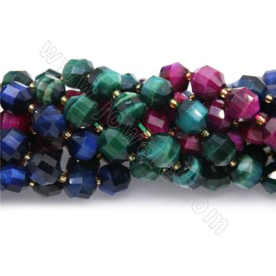Dyed tiger's eye beads...
