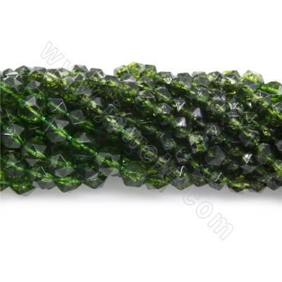 Dyed green quartz beads...