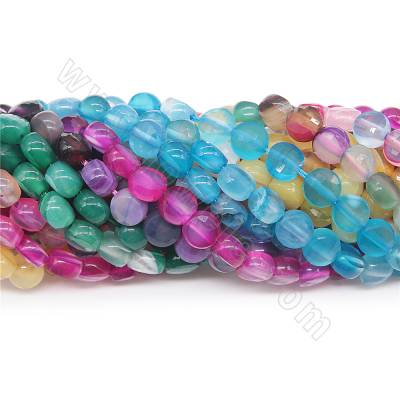 Dyed striped agate beads...