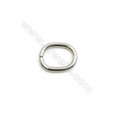 304 Stainless Steel Open Ring  Oval Size 13x11mm  Wire Diameter 1.8mm  900pcs/pack