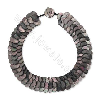 Natural grey shell necklace...
