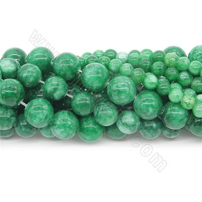 Natural green jade beads...