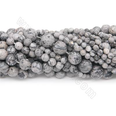 Natural map stone beads...