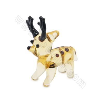 Lampwork beads deer  size...