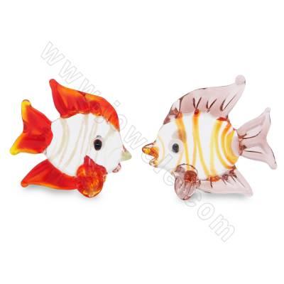 Lampwork beads fish size...