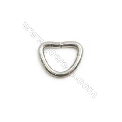 304 Stainless Steel Open Ring  Key Clasp Size 11x9mm  Wire Diameter 1.5mm 500pcs/pack