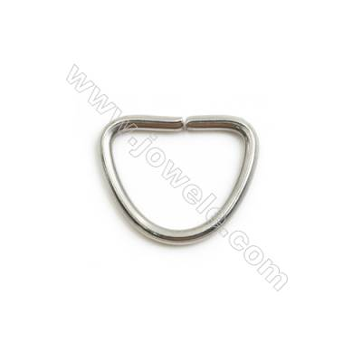 304 Stainless Steel Open Ring  Key Clasp Size 15x12mm  Wire Diameter 1.5mm 500pcs/pack
