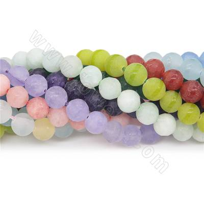 Dyed matte jade beads...