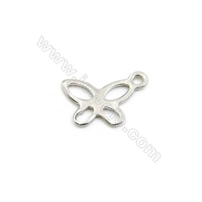 304 Stainless Steel Charms  Butterfly  Size 5x11mm  Hole 1mm  300pcs/pack
