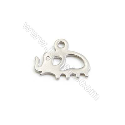 304 Stainless Steel Charms  Elephant  Size 9x11mm  Hole 1mm  300pcs/pack