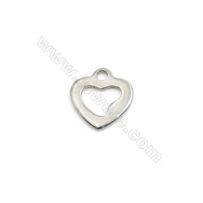304 Stainless Steel Charms  Heart  Size 9x9mm  300pcs/pack