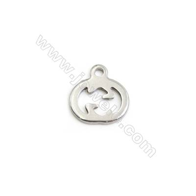304 Stainless Steel Charms  Pumpkin  Size 9x9mm  300pcs/pack