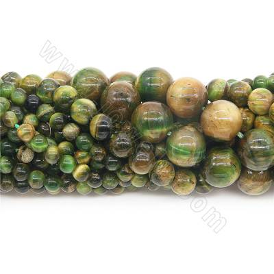 Dyed green tiger's eye...