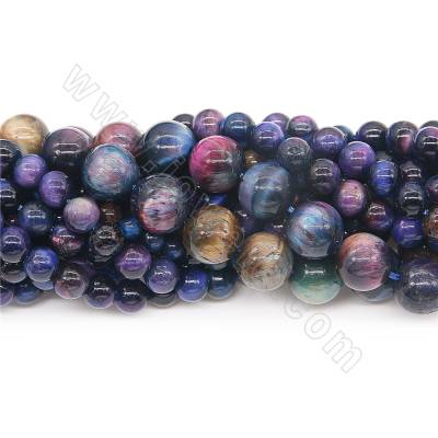 Dyed blue tiger's eye beads...