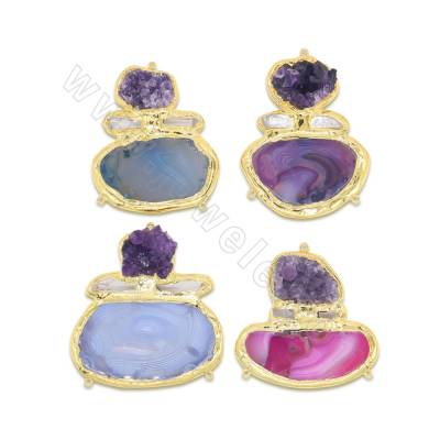 Natural agate + amethyst...